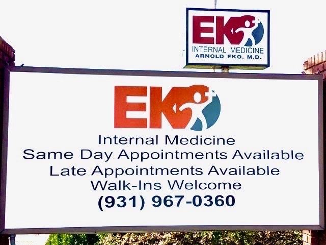 EKO internal Medicine sign